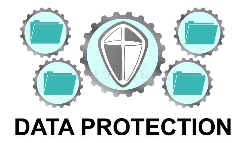 Concept de la protection des données illustration stock