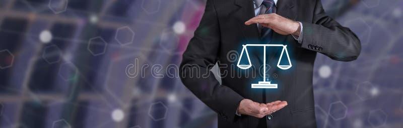 Concept de la protection juridique images stock