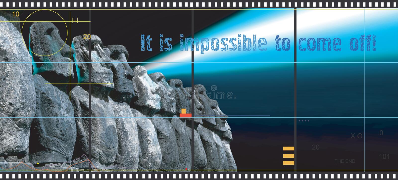 Concept de la publicité du cinéma photographie stock