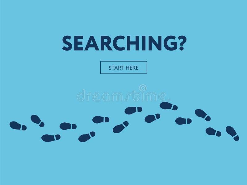 Concept de la recherche Bannière d'Internet Commencez ici illustration de vecteur