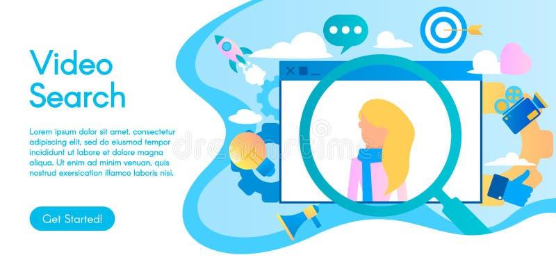 Concept de la recherche visuelle, illustration d'affaires de vecteur dans la conception plate photos libres de droits