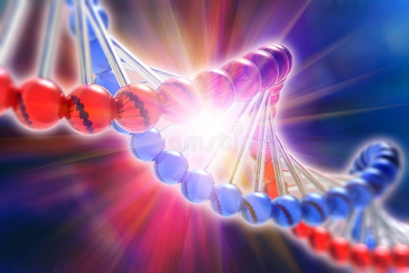 Concept de la science de recherche génétique d'ADN illustration libre de droits