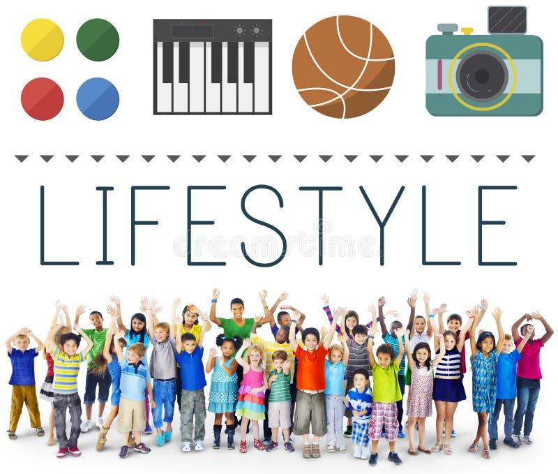 Concept de la vie d'intérêts de passe-temps d'habitudes de culture de mode de vie photos stock