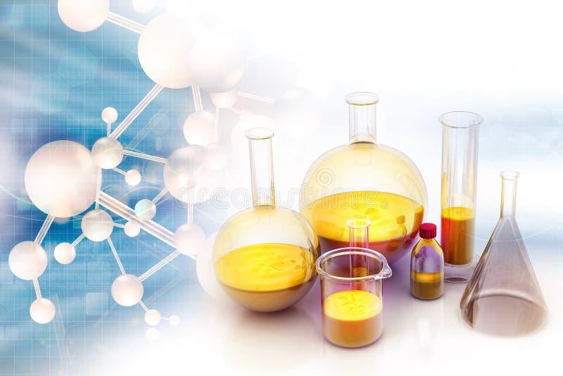 Concept de laboratoire de chimie photo libre de droits