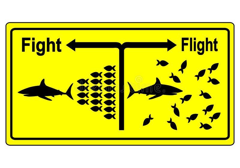 Concept de le combat ou la fuite illustration de vecteur