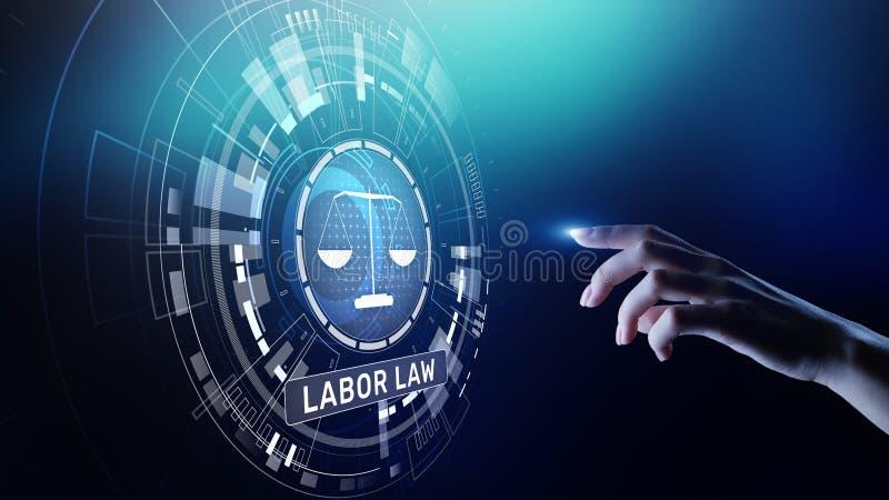 Concept de Legal Business Consulting d'avocat de droit du travail images stock