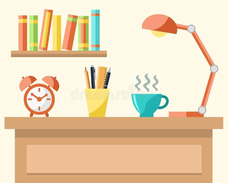 Concept de lieu de travail illustration stock