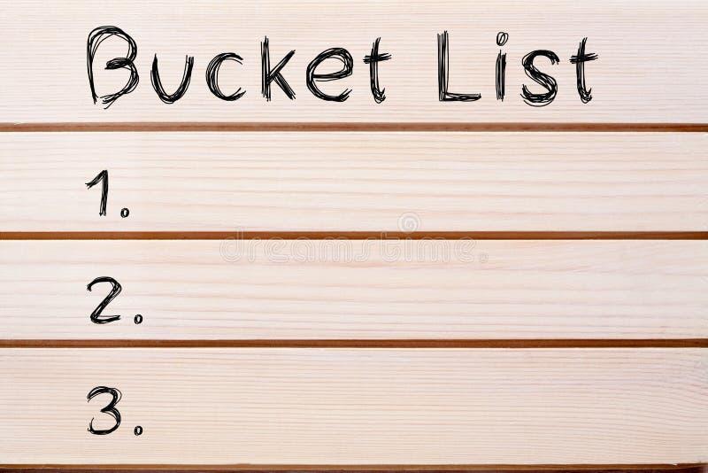 Concept de liste de seau photographie stock