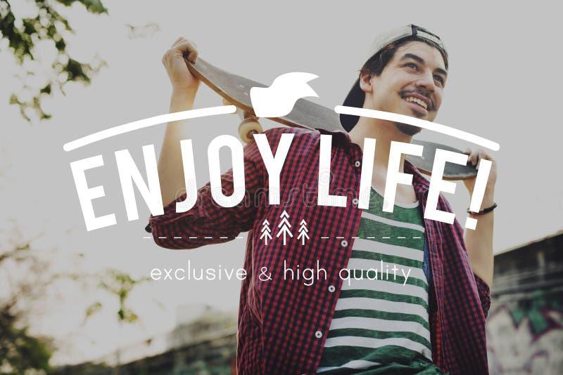 Concept de Live Life Lifestyle Enjoyment Happiness image stock