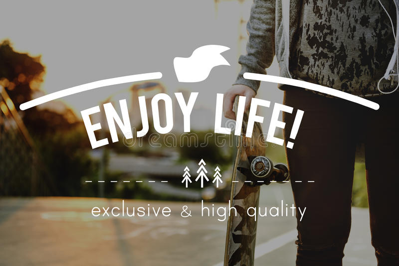 Concept de Live Life Lifestyle Enjoyment Happiness photos stock