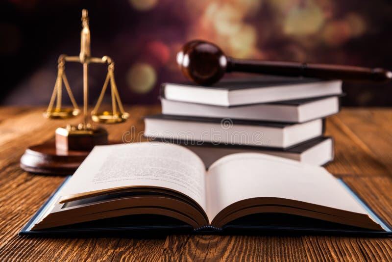 Concept de livre de loi photo stock