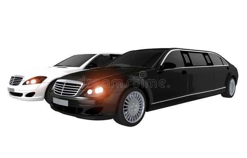 Concept de location de limousines illustration de vecteur