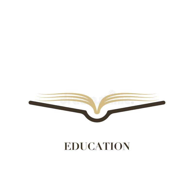Concept de logo d'éducation avec l'icône simple de livre, illustratio de vecteur illustration de vecteur