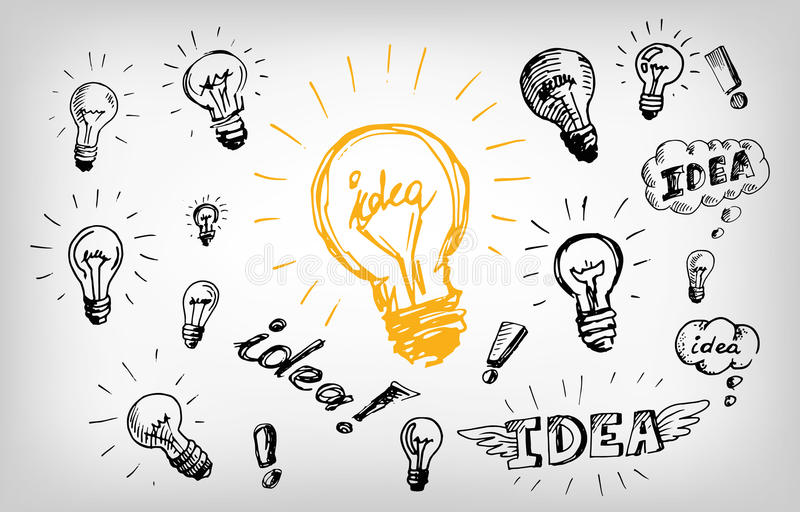 Concept de logo d'ampoule d'idée image libre de droits