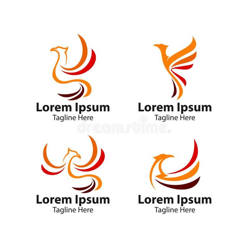 Concept de logo d'oiseau de Phoenix illustration libre de droits