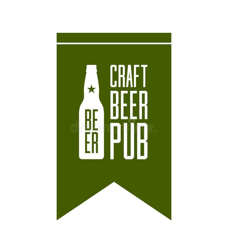 Concept de logo de bar de bière de métier d'isolement illustration libre de droits