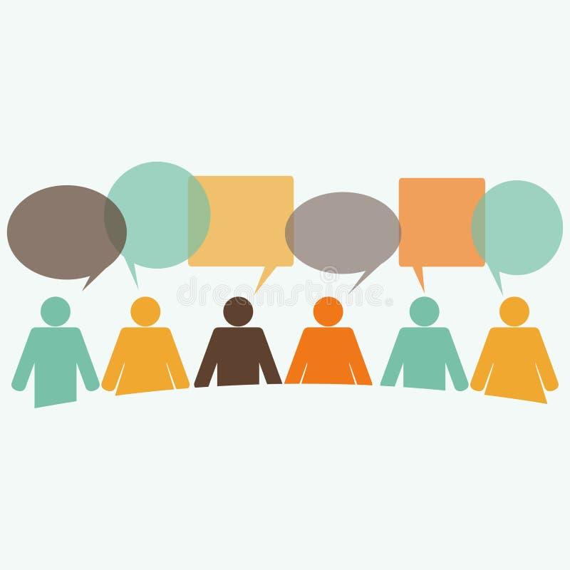 Concept de logo de communication illustration libre de droits