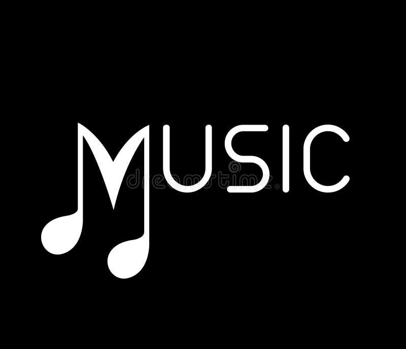 Concept de logo de musique illustration libre de droits