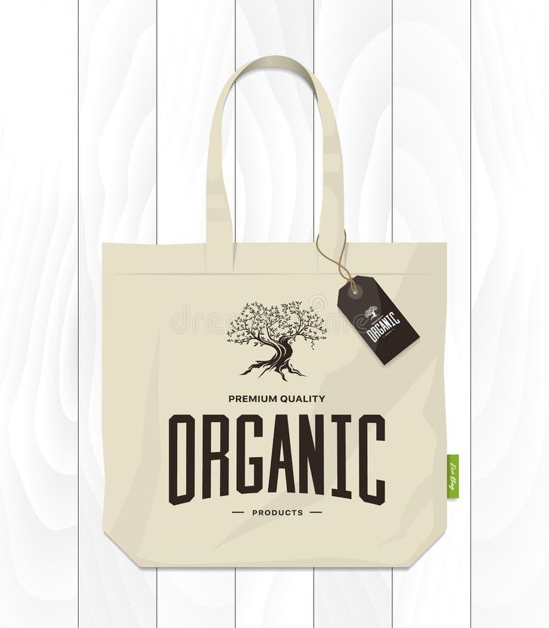 Concept de logo de vintage d'olivier d'isolement illustration stock