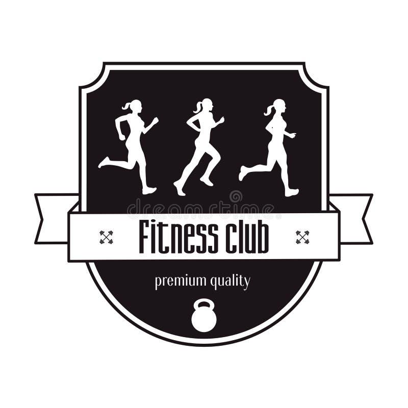 Concept de logo de vintage de centre de fitness illustration libre de droits