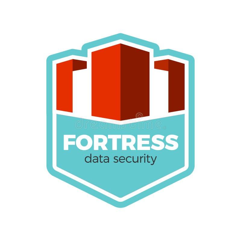 Concept de logo de forteresse illustration de vecteur