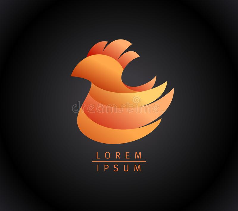 Concept de logotype de poule ou de poulet illustration libre de droits