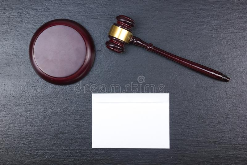 Concept de LOI Carte de visite professionnelle de visite Maquette réglée de papeterie d'entreprise Éléments texturisés vides d'id image libre de droits
