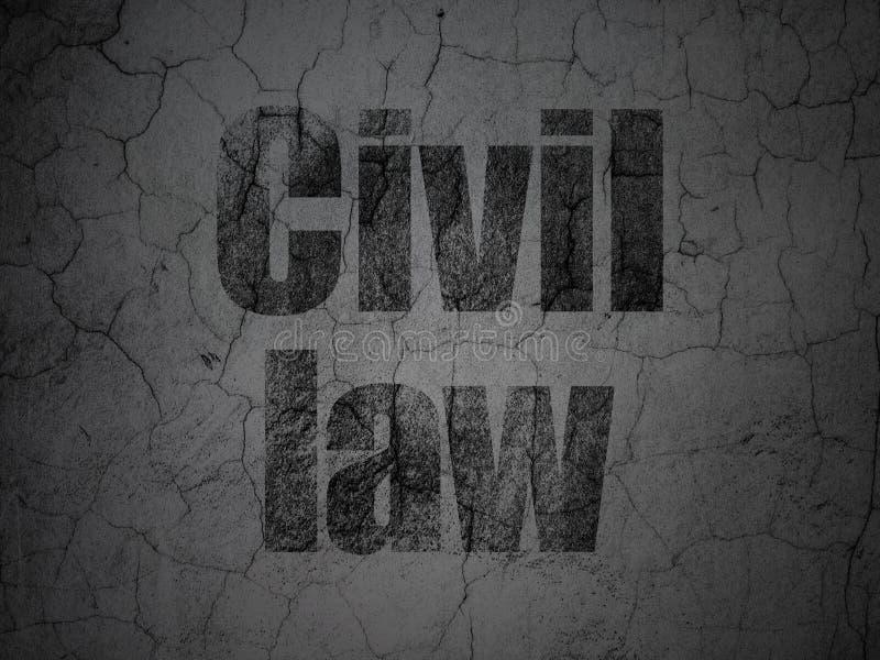 Concept de loi : Droit Civil sur le fond grunge de mur illustration stock