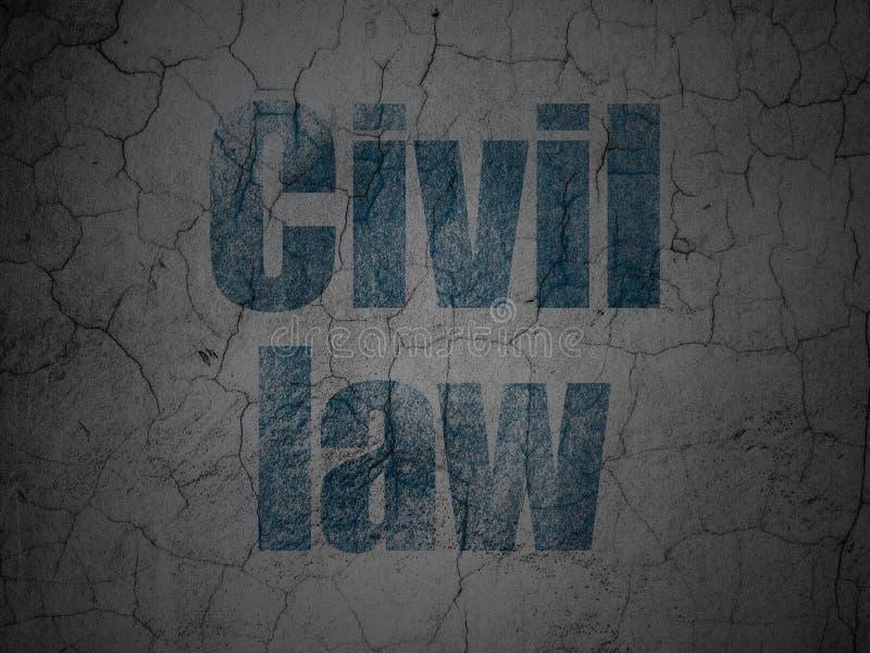Concept de loi : Droit Civil sur le fond grunge de mur illustration de vecteur