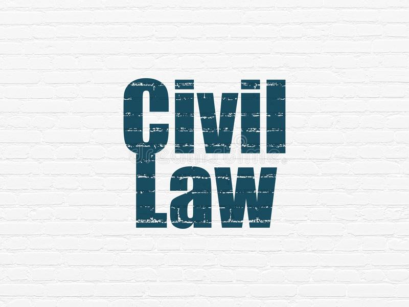 Concept de loi : Droit Civil sur le fond de mur illustration libre de droits