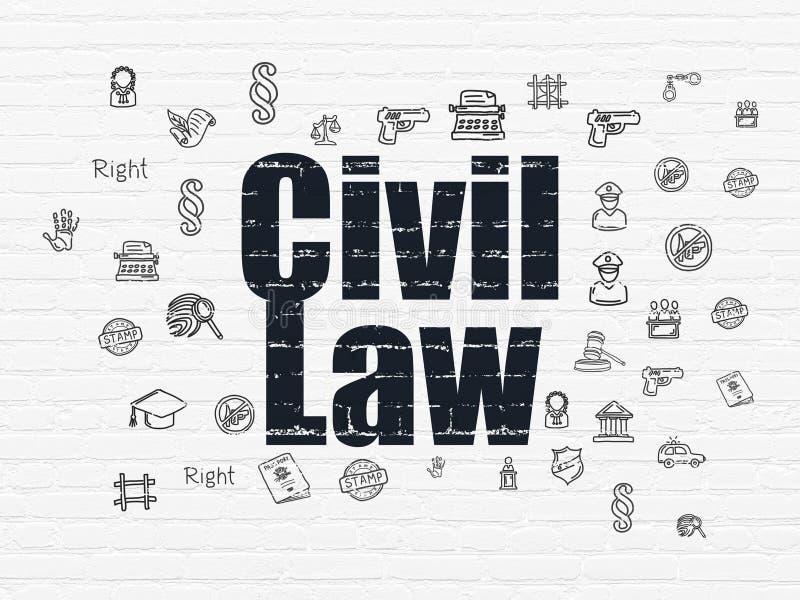 Concept de loi : Droit Civil sur le fond de mur illustration de vecteur