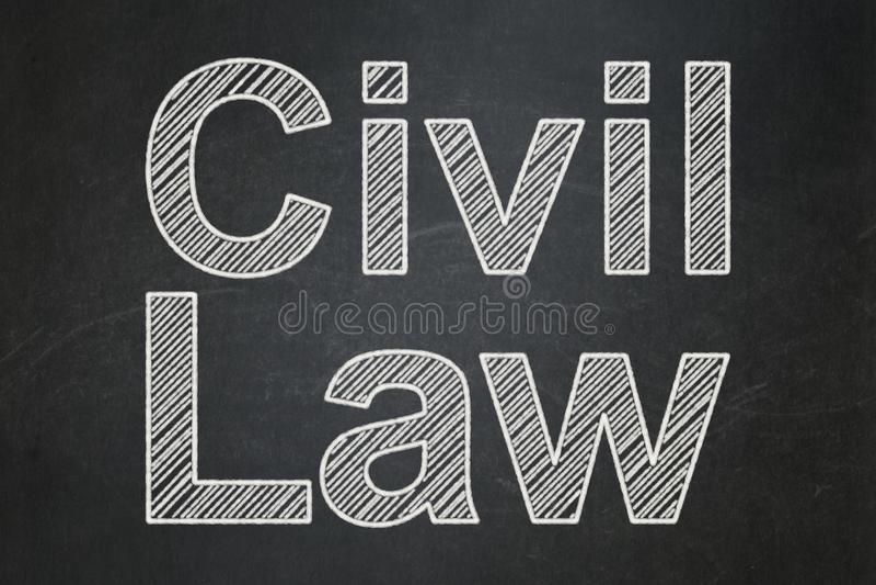 Concept de loi : Droit Civil sur le fond de tableau illustration de vecteur