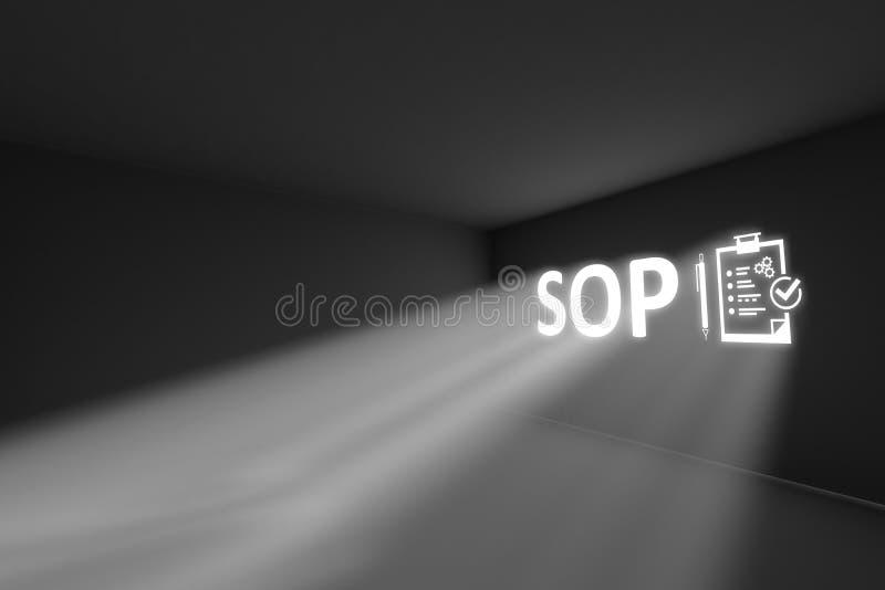 Concept de lumière de volume de rayons de CONCESSION illustration stock
