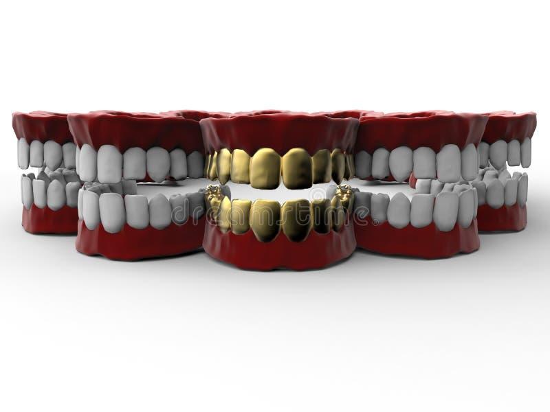 Concept de luxe de dentier illustration de vecteur
