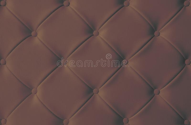 Concept de luxe foncé FO de fond de texture de sofa de tapisserie d'ameublement de Brown images stock