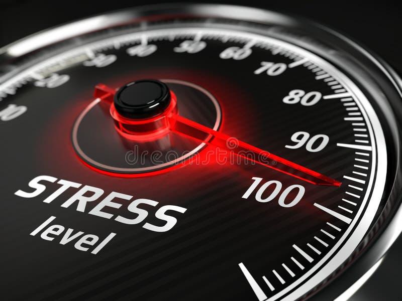 Concept de mètre de niveau de stress illustration de vecteur