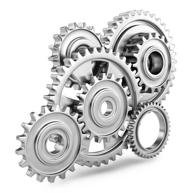 Concept de mécanisme de vitesses de dent 3d illustration libre de droits