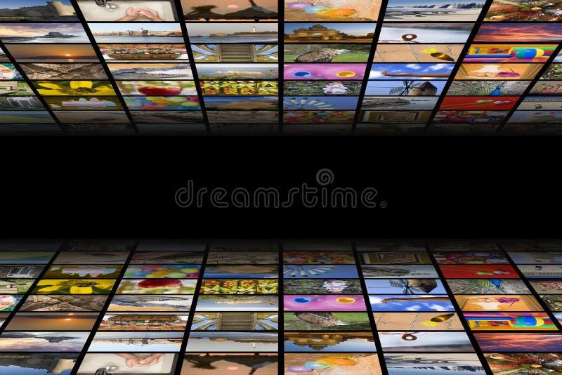 Concept de médias télévisés photographie stock libre de droits