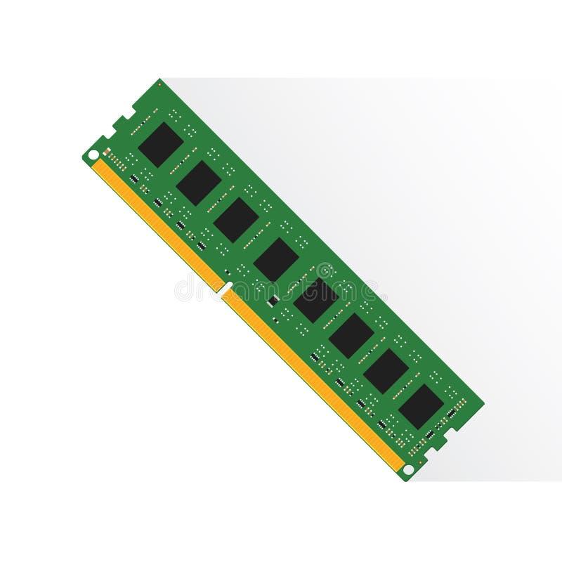 Concept de mémoire à accès sélectif par le labtop 4GB ou 8GB ou 16GB de RAM illustration stock