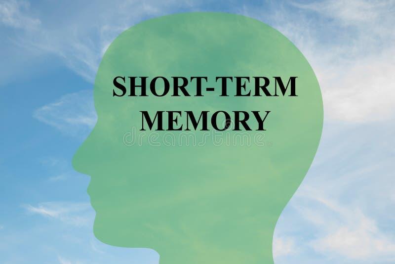 Concept de mémoire à court terme illustration stock