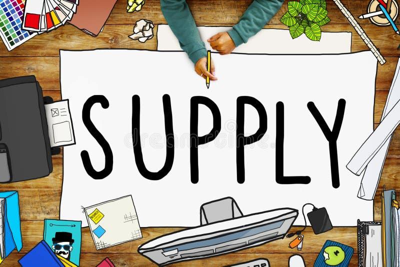 Concept de métier de la distribution de stratégie de production d'approvisionnement illustration libre de droits