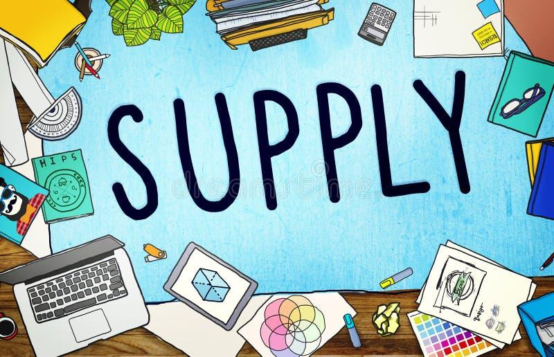 Concept de métier de la distribution de stratégie de production d'approvisionnement illustration stock