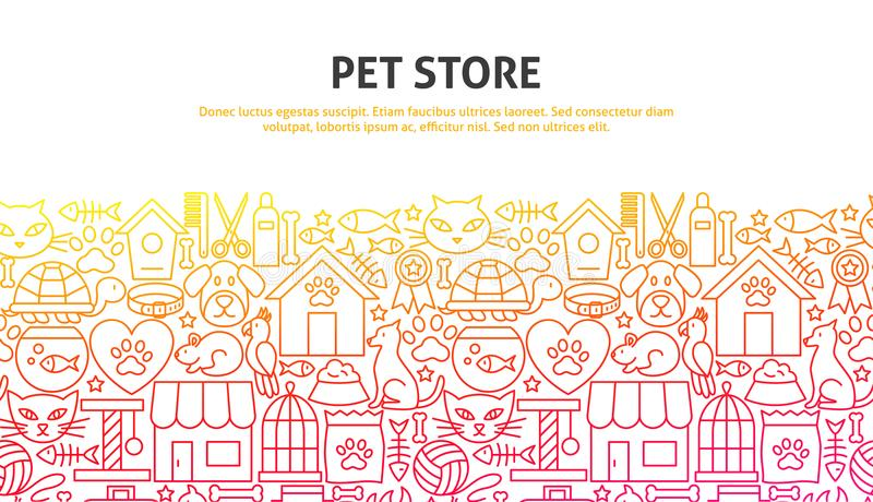 Concept de magasin d'animal familier illustration stock