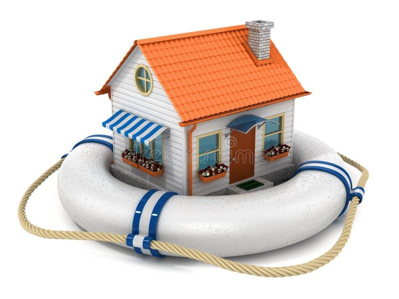 Concept de maison d'assurance illustration stock