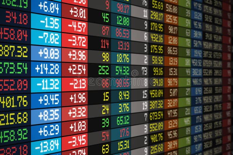 Concept de marché boursier illustration libre de droits