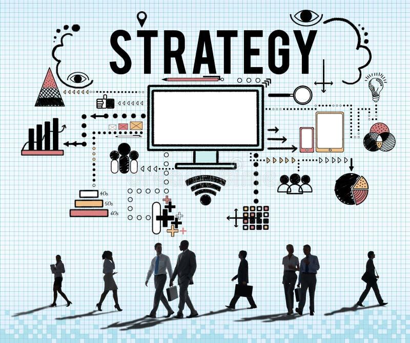 Concept de marquage à chaud de stratégie marketing d'affaires illustration stock