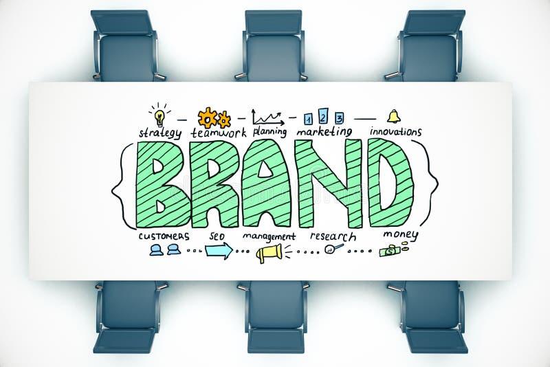 Concept de marque illustration libre de droits