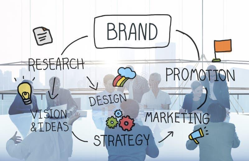 Concept de marque déposée de conception de marquage à chaud de la publicité de marketing de marque photo libre de droits