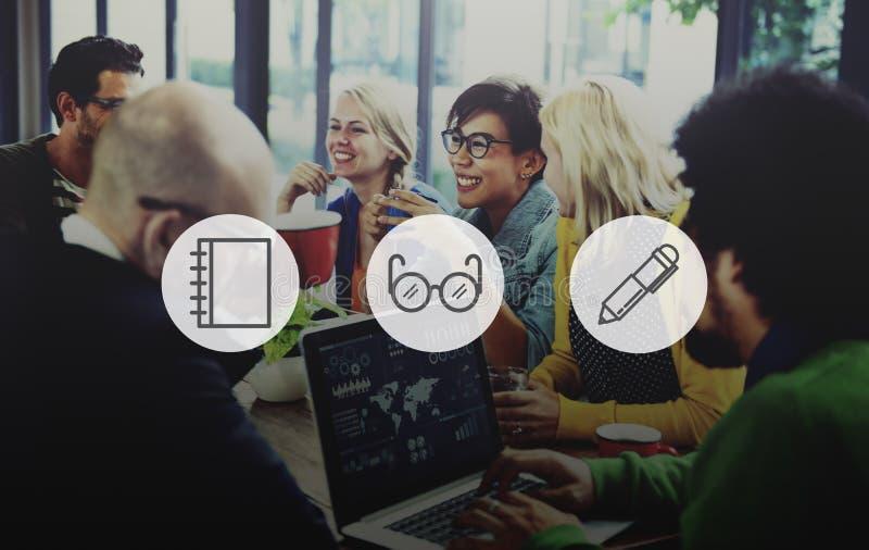 Concept de marque de signe de media de Logotype de Digital d'idées d'idée d'icône photo stock
