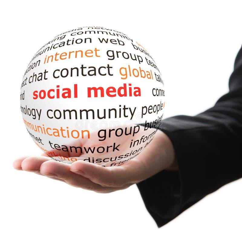 Concept de media social images stock